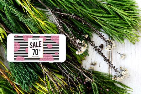 mega phone: Sale Discount Shopping Shopaholics Promotion Concept