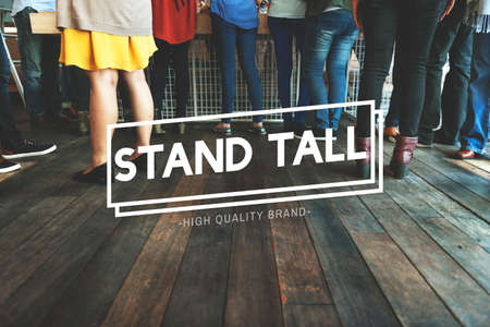 meetup: Stand Still Community Family Friends Together Concept Stock Photo
