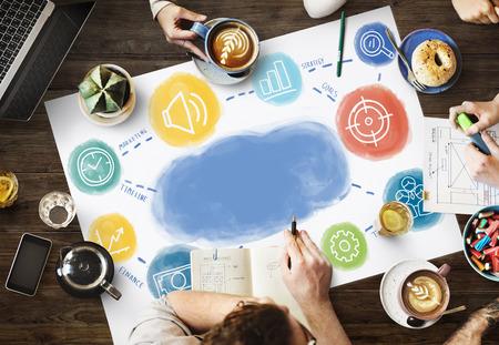 copy space: Copy Space Business Strategy Concept