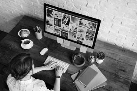 Idées Profession créative Design Studio Concept de travail informatique Banque d'images