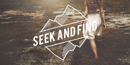 seek: Seek Find Adventure Destination Explore Trip Concept Stock Photo