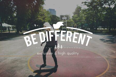 distinct: Be Different Unique Distinct Exclusive Concept