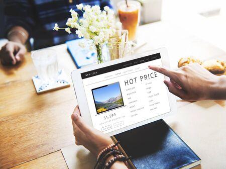 Hot prezzo Shopping Online Internet concetto di sito Web