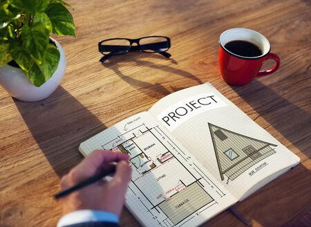 Project Plan Strategy Estimate Collaboration Job Concept Stock Photo