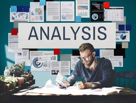 reseach: Analysis Planning Research Stats Information Concept