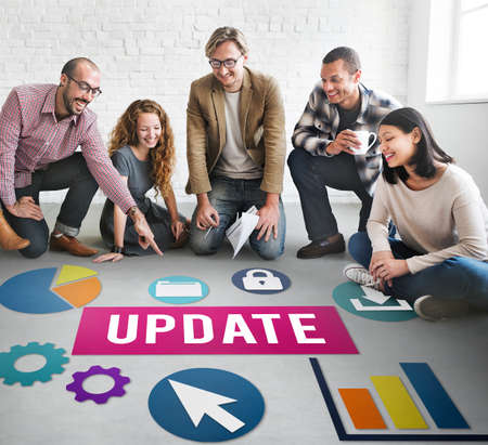 update: Update Technology Word Graphic Concept Stock Photo