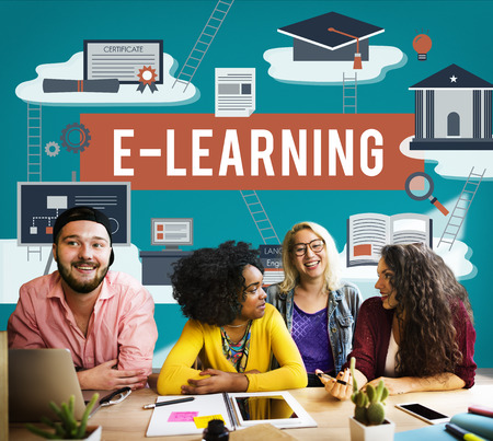 instructional: E-learning Education Internet Technology Network Concept