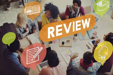 reviewer: Review Assessment Auditing Evaluate Concept Stock Photo