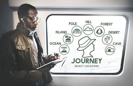 adjournment: Journey Adventure Travel Journey Experience Concept