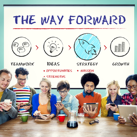 the way forward: The Way Forward Business Plan Growth Strategy Concept