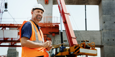 topografo: Construction Worker Planning Constractor Developer Concept