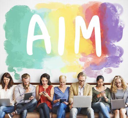 aspire: Ambition AIm Aspire Goals Motivation Aspirations Concept