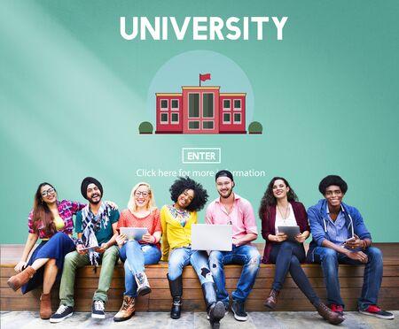 school exam: University Campus Education Knowledge School Concept