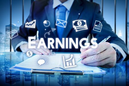 earnings: Profit Earnings Income Financial Economy Proceeds Concept Stock Photo