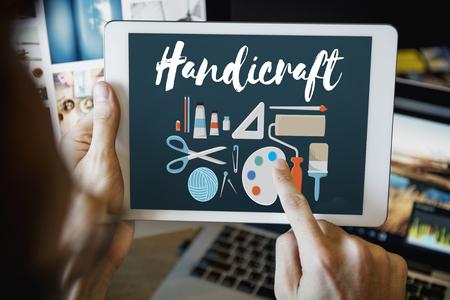 handiwork: Handicraft Handmade Handiwork Art Design Ideas Concept Stock Photo