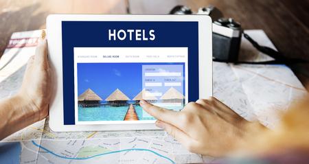 Concepto de interfaz de portal de reservas de vacaciones
