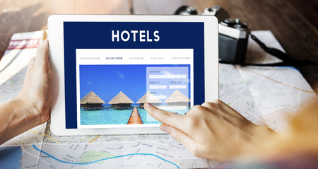Ferien Reservierung Website Interface-Konzept