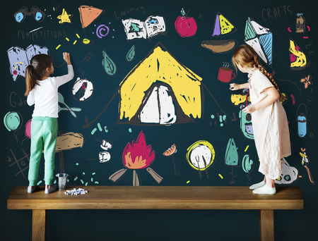 Summer Camp Learning Exploration Outdoors Concept Stock Photo