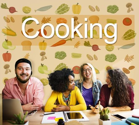 good food: Cooking Eating Good Food Gourmet Concept Stock Photo