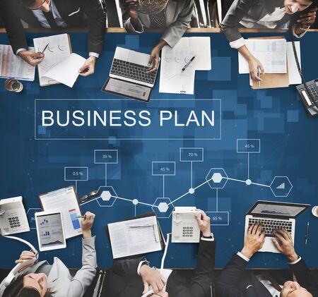 Business Plan Strategy Conceptualize Analytics Concept Standard-Bild