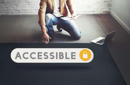 accessible: Accessible Permission Verification Security Concept Stock Photo
