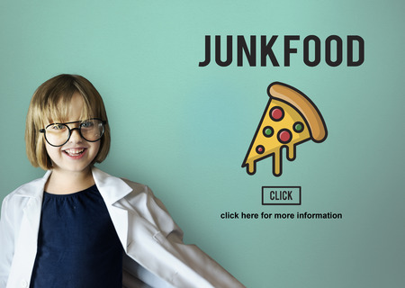 childhood obesity: Fast food Unhealthy Snacks Calories Fat Concept Stock Photo