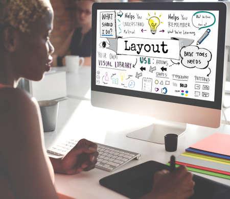 editing: Layout Creative Design Editing Organization Concept