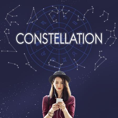 astronomy: Constellation Astronomy Horoscope Fortune Telling Zodiac Concept