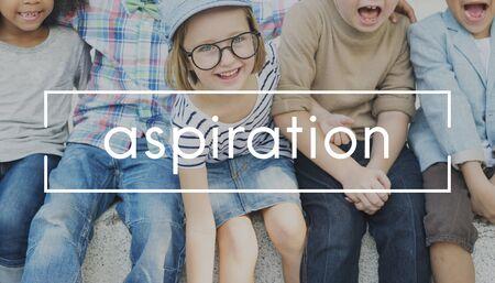 ambition: Aspiration Ambition Aspire Goals Target Vision Concept