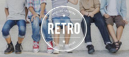 Rétro style classique Oldschool Concept de mémoire Banque d'images - 60575964