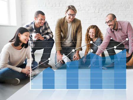 reseach: Analysis Analytics Business Statistics Concept Stock Photo