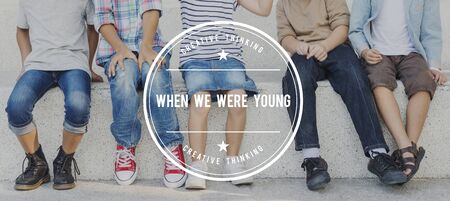When Were Young Growth Childhood Concept Stock Photo
