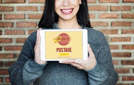 postal stamp: Postage Postal Stamp Delivery Postmark Concept
