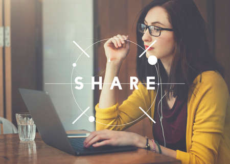 Share Distribution Exchange Communication Connection Concept Stock Photo