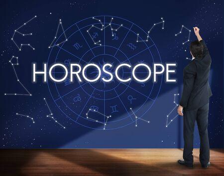 astral: Horoscope Astral Calendar Future Prediction Signs Concept Stock Photo