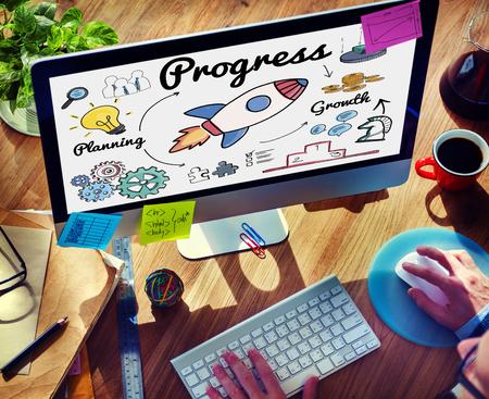 advance: Progress Innovation Inprovement Advance Growth Concept