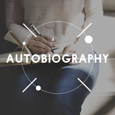 labelling: Autobiography Biography Story History Book Concept Stock Photo