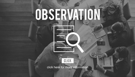 observation: Observation Research Investigation Discovery Concept
