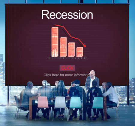 Recession Crisis Inflation Bankrupt Savings Trade Concept Stock Photo