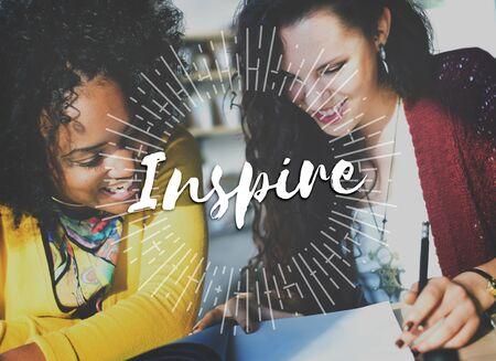 inspire: Inspire Inspiration Ideas Creativity Influencing Encourage Concept