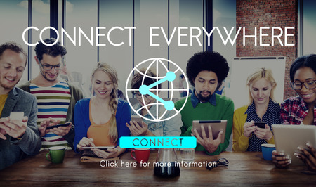 network concept: Connection Internet Communication Network Sharing Concept