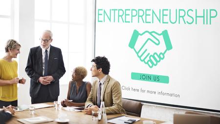 Entrepreneurship Corporate-Unternehmen Händlerkonzept Standard-Bild - 60583336