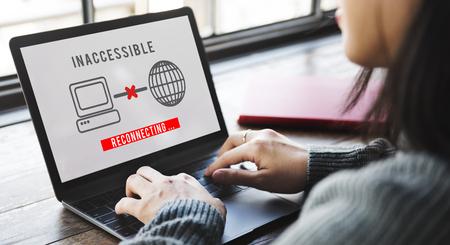 Ontoegankelijke Denied Firewall Afwijzing Veiligheid Concept