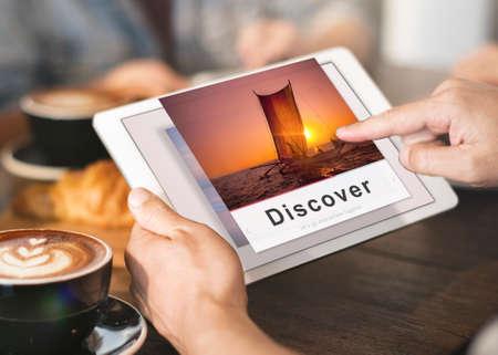 internet explorer: Destination Voyage Explore Journey Recreation Concept
