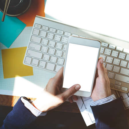 copyspace: Mockup Copyspace Hands Mobile Phone Concept