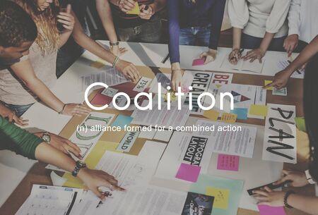 coalition: Coalition Association Alliance Corporate Union Concept