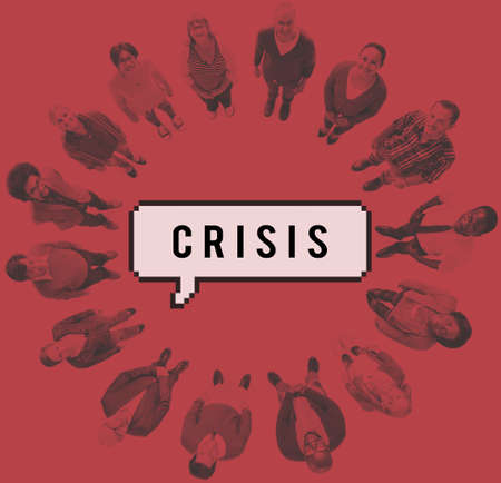 catastrophe: Crisis Loss Recession Catastrophe Risk Turning Point Concept