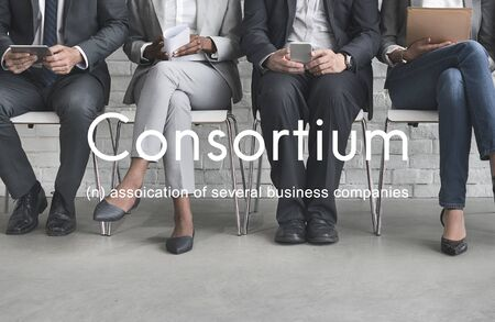 alliance: Consortium Alliance Combine Cooperative Group Concept Stock Photo
