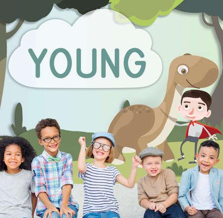 playful: Kids Playful Young Childhood Enjoyment Concept