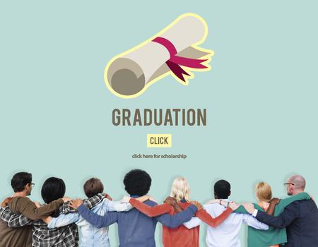 man rear view: Diploma Degree Graduation Course Education Concept